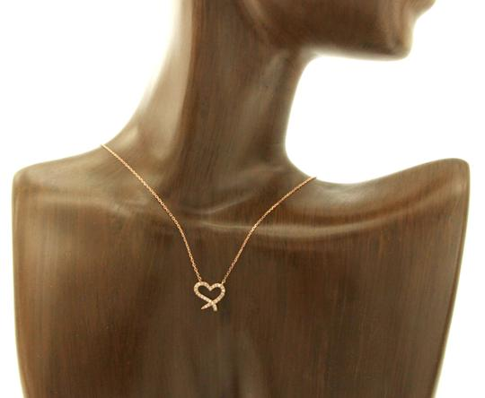 Unbranded 14K Rose Gold 0.06 CT Diamonds Heart Necklace Image 2
