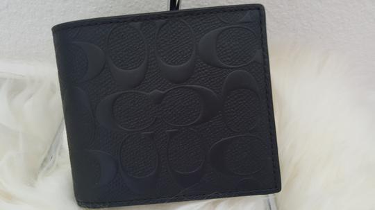 Coach NEW Coach Embossed signature Logo Leather W ID Card Case holder Wallet Image 8