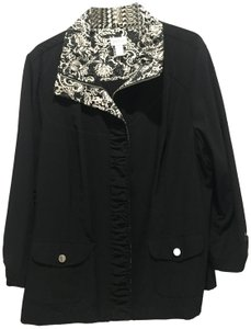 CHICO Casual BLACK WITH BLACK AND WHITE TRIM Jacket