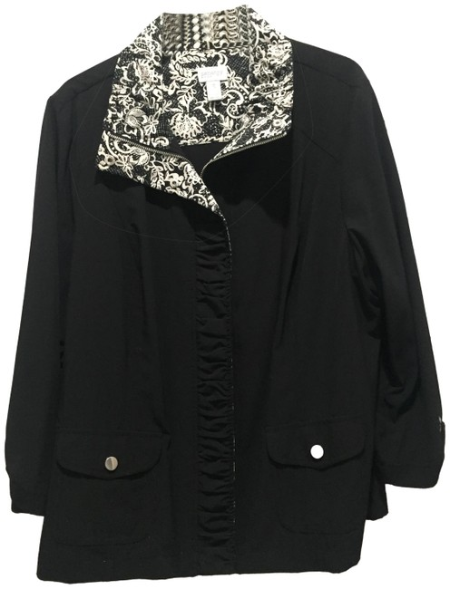 Preload https://img-static.tradesy.com/item/24125926/black-with-black-and-white-trim-causal-wear-or-dress-up-jacket-size-16-xl-plus-0x-0-1-650-650.jpg