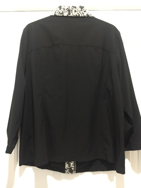 CHICO Casual BLACK WITH BLACK AND WHITE TRIM Jacket Image 1