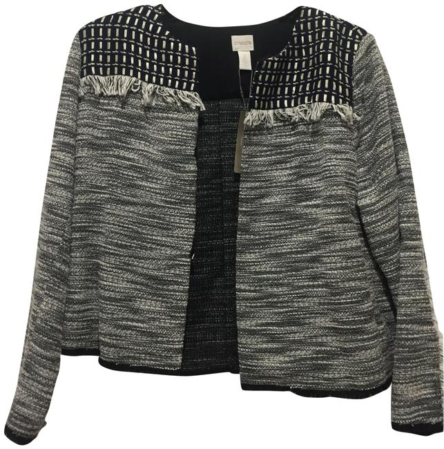 Preload https://img-static.tradesy.com/item/24126001/black-and-white-with-some-blue-at-the-top-novelty-pieced-jacket-size-12-l-0-1-650-650.jpg