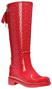 Coach Red Boots