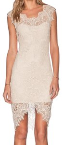 Free People White Fringe Hem Lace Crochet Ivory Dress