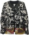 CHICO BLACK AND WHITE WITH SEQUINES AT BOTTOM IN DIFF. COLORS Jacket Image 0