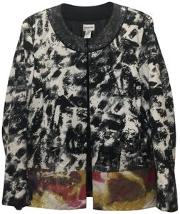 CHICO BLACK AND WHITE WITH SEQUINES AT BOTTOM IN DIFF. COLORS Jacket