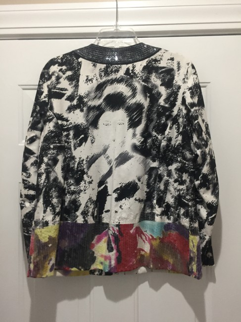 CHICO BLACK AND WHITE WITH SEQUINES AT BOTTOM IN DIFF. COLORS Jacket Image 1