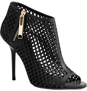 Burberry Cutout Open Toe Party Black Boots