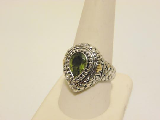 Other Artisan Crafted Peridot .925 Pear-Shaped Ring 10 Image 5