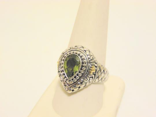 Other Artisan Crafted Peridot .925 Pear-Shaped Ring 10 Image 7