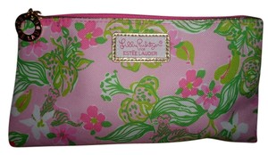Lilly Pulitzer LILLY PULITZER (ESTEE LAUDER) PINK/GREEN MULTI COSMETIC BAG
