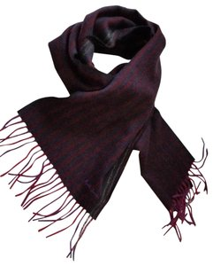 Paul Smith NEW PAUL SMITH Lambswool Cashmere Fringe Scarf Embroidered Logo Gift