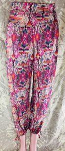 Onzie Relaxed Fit Stretchy Multicolor Baggy Pants Multi