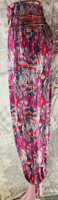 Onzie Relaxed Fit Stretchy Multicolor Baggy Pants Multi Image 3