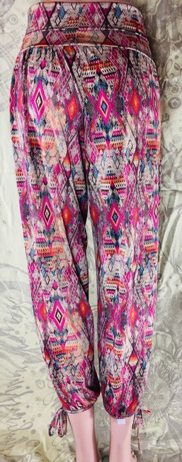 Onzie Relaxed Fit Stretchy Multicolor Baggy Pants Multi Image 7