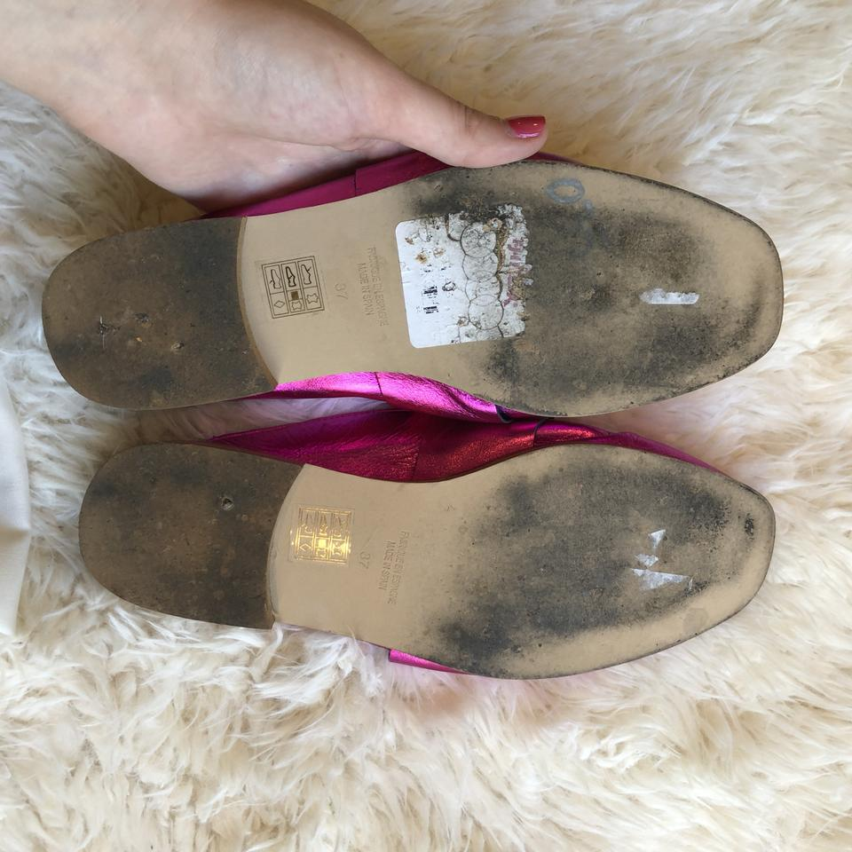 1df121bc683 Free People Loafer Slip On Slipper Metallic Pink Flats Image 5. 123456