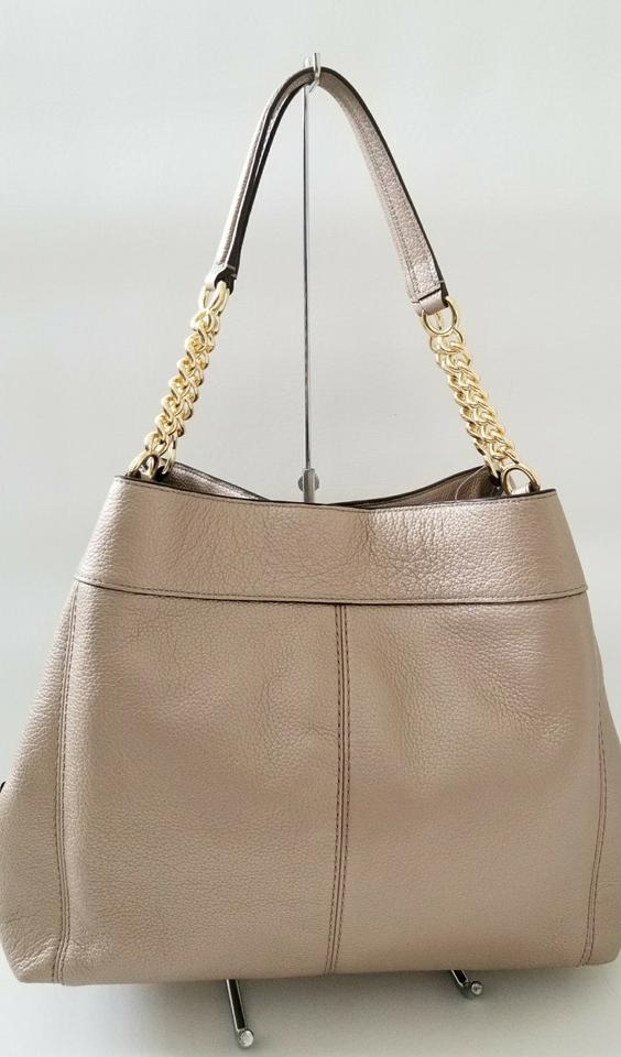 5d174cfc4f0d Coach Lexy New Classy Chain Strap Shoulder Purse Platinum Gold Leather Hobo  Bag - Tradesy