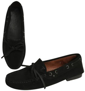 Tod's Suede Moccasins Driving Loafers Slip Ons Black Flats
