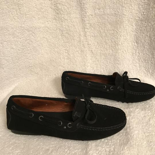 Tod's Suede Moccasins Driving Loafers Slip Ons Black Flats Image 4