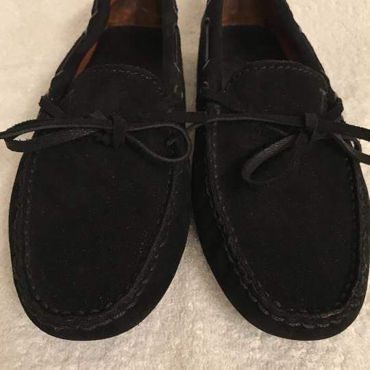 Tod's Suede Moccasins Driving Loafers Slip Ons Black Flats Image 5
