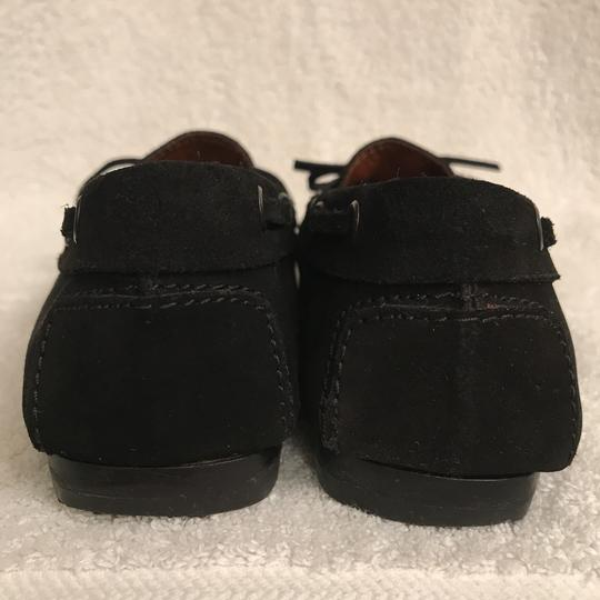 Tod's Suede Moccasins Driving Loafers Slip Ons Black Flats Image 7