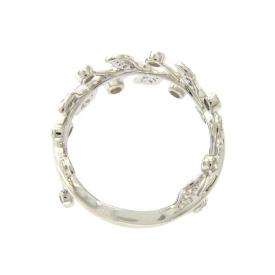 none 14K White Gold 0.49 CT Diamonds Fancy Cluster Ring Image 2