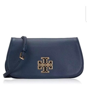 Tory Burch Britten Cltuch Satchel in Hudson Bay