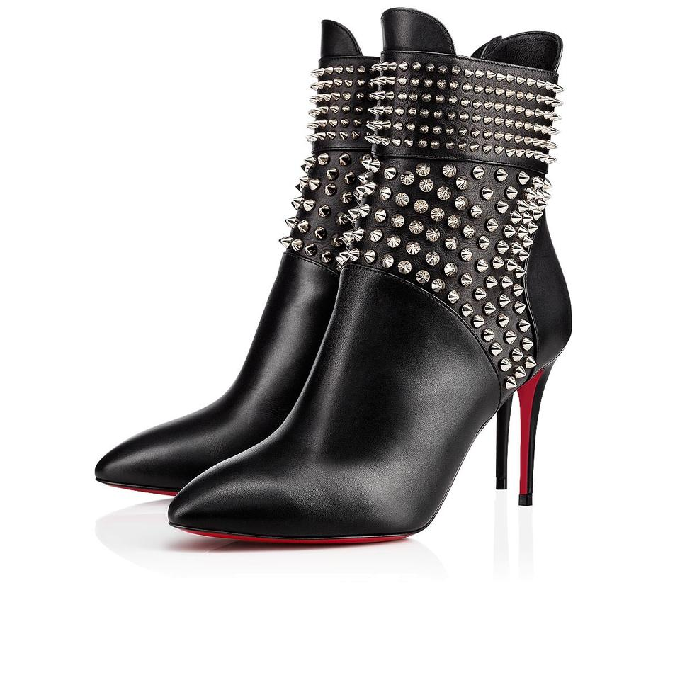 1a8e8125a1c3 Christian Louboutin Black New Hongroise 85 Studded 39 Boots Booties ...