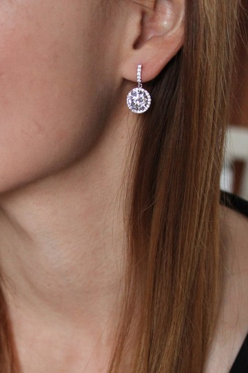 Ocean Fashion Gold Simple large crystal earrings Image 1