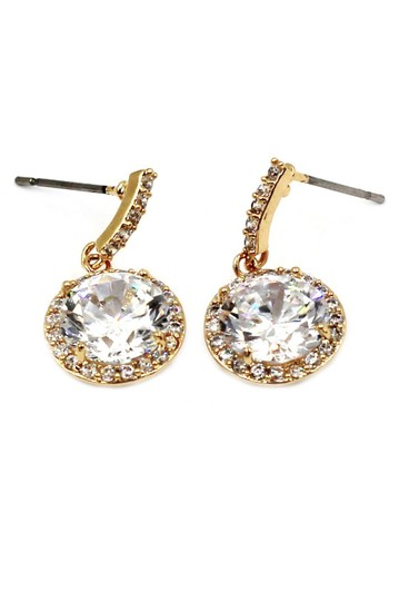 Ocean Fashion Gold Simple large crystal earrings Image 2
