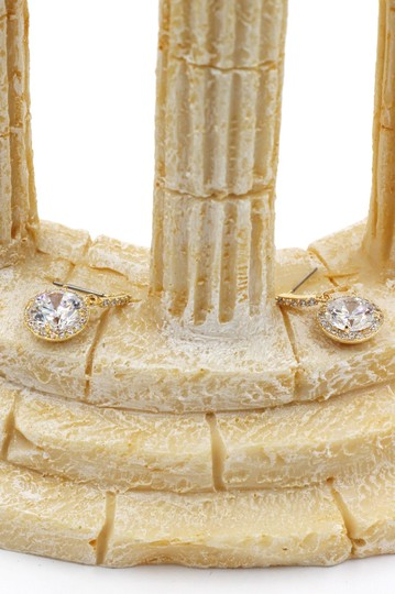 Ocean Fashion Gold Simple large crystal earrings Image 5