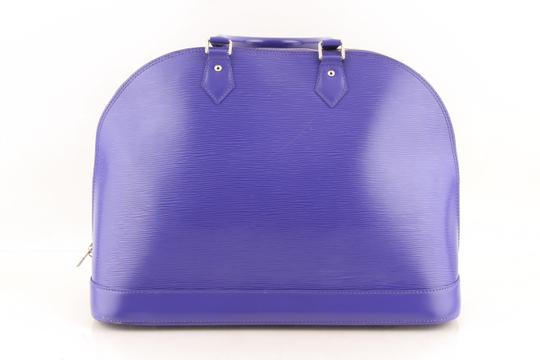 Louis Vuitton Alma Leather Tote in purple Image 1