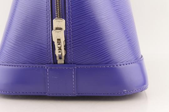 Louis Vuitton Alma Leather Tote in purple Image 10