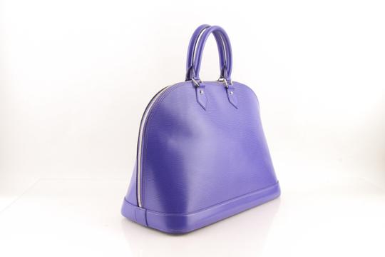 Louis Vuitton Alma Leather Tote in purple Image 2