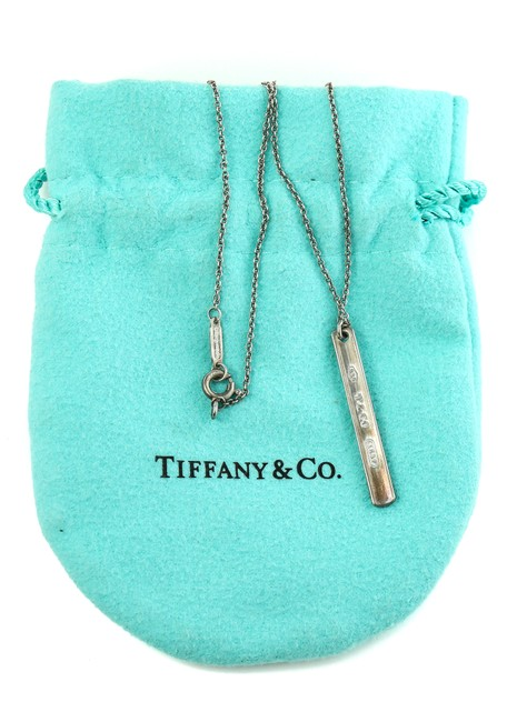 Tiffany & Co. Sterling Silver Co Bar Pendant Necklace Tiffany & Co. Sterling Silver Co Bar Pendant Necklace Image 1