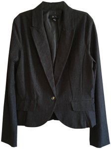 BCX Pinstripe Striped Lapel Classic Stretchy Black Blazer