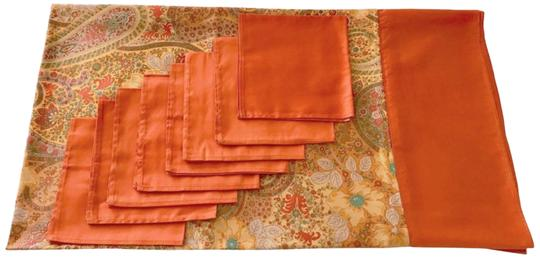 Preload https://img-static.tradesy.com/item/24126729/etro-multicolor-70-x-70-square-tablecloth-8-napkins-made-in-italy-floral-orange-0-18-540-540.jpg