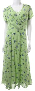 Green Maxi Dress by April Cornell Vintage Floral