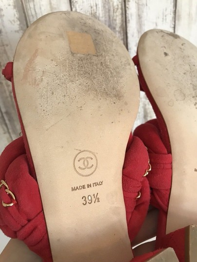 Chanel Mules Flats Pumps Red Sandals Image 6