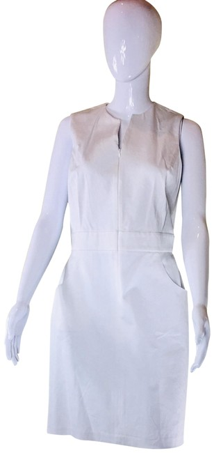J.McLaughlin White Hudson Sleeveless Front Zip Stretchy Sheath Short Casual Dress Size 8 (M) J.McLaughlin White Hudson Sleeveless Front Zip Stretchy Sheath Short Casual Dress Size 8 (M) Image 1