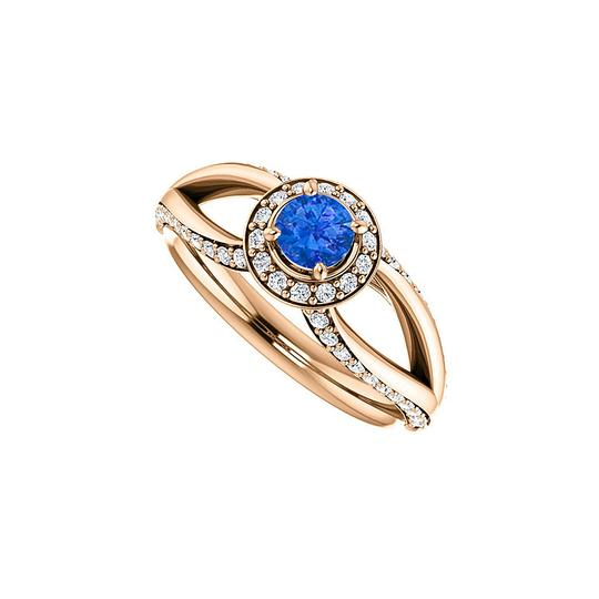 Preload https://img-static.tradesy.com/item/24126959/blue-sapphire-and-cz-accented-open-leaf-design-halo-ring-0-0-540-540.jpg