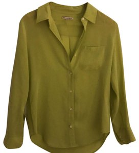 Broadway & Broome Button Down Shirt Chartreuse