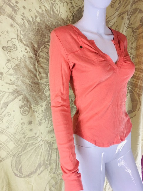 Rebecca Beeson Blouse Sweater Longsleeve T Shirt Salmon red Image 1