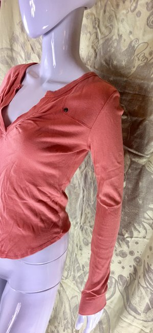 Rebecca Beeson Blouse Sweater Longsleeve T Shirt Salmon red Image 9