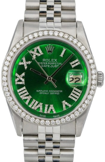 Preload https://img-static.tradesy.com/item/24127067/rolex-green-mens-datejust-36mm-diamond-dial-diamond-bezel-jubilee-band-watch-0-1-540-540.jpg