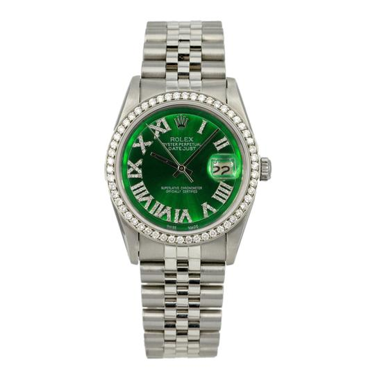 Rolex Rolex Mens Datejust 36mm Diamond Dial Diamond Bezel Jubilee Band Watch Image 1