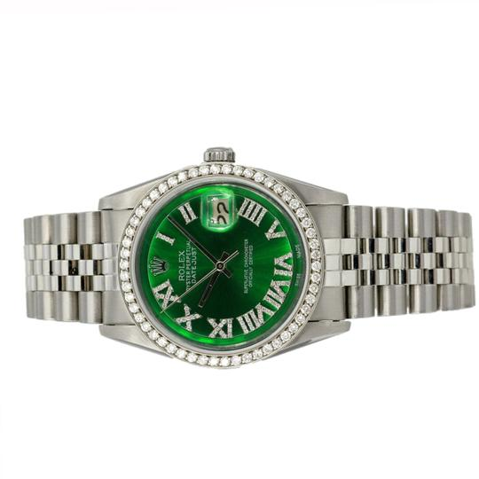 Rolex Rolex Mens Datejust 36mm Diamond Dial Diamond Bezel Jubilee Band Watch Image 2