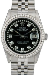 Rolex Rolex Datejust 36mm Stainless Steel Diamond Dial Diamond Bezel Watch