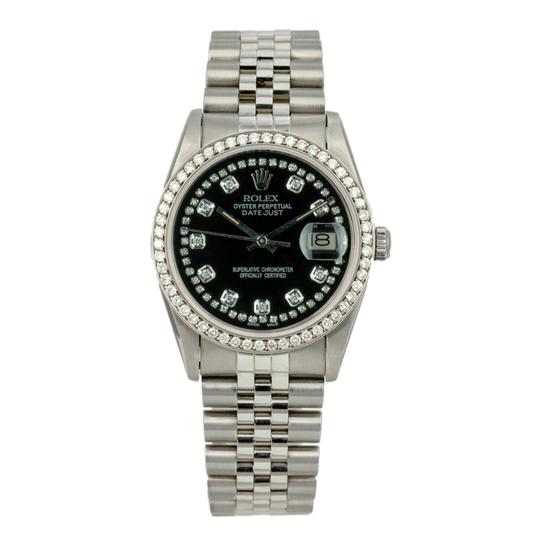Rolex Rolex Datejust 36mm Stainless Steel Diamond Dial Diamond Bezel Watch Image 1