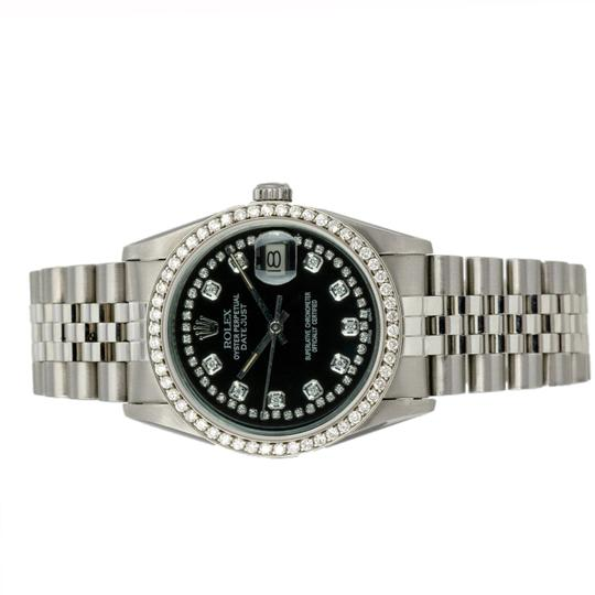 Rolex Rolex Datejust 36mm Stainless Steel Diamond Dial Diamond Bezel Watch Image 2